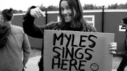 Myles sings here