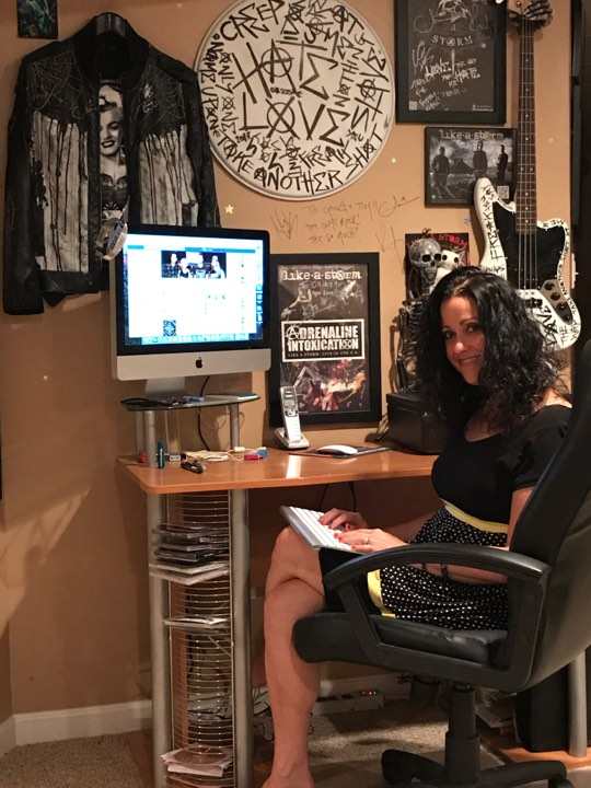 GINA AT DESK
