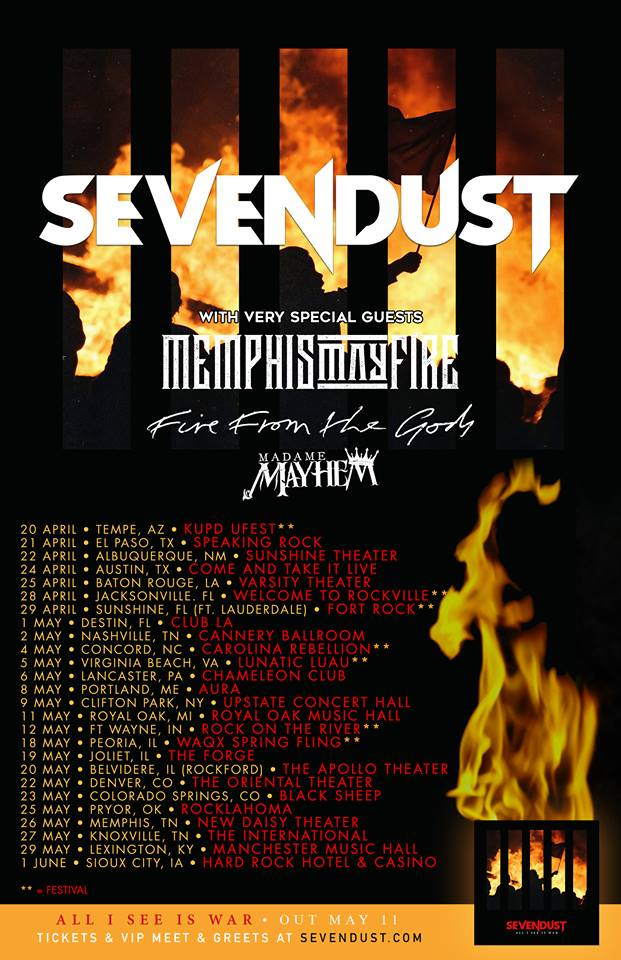 SEVENDUST TOUR