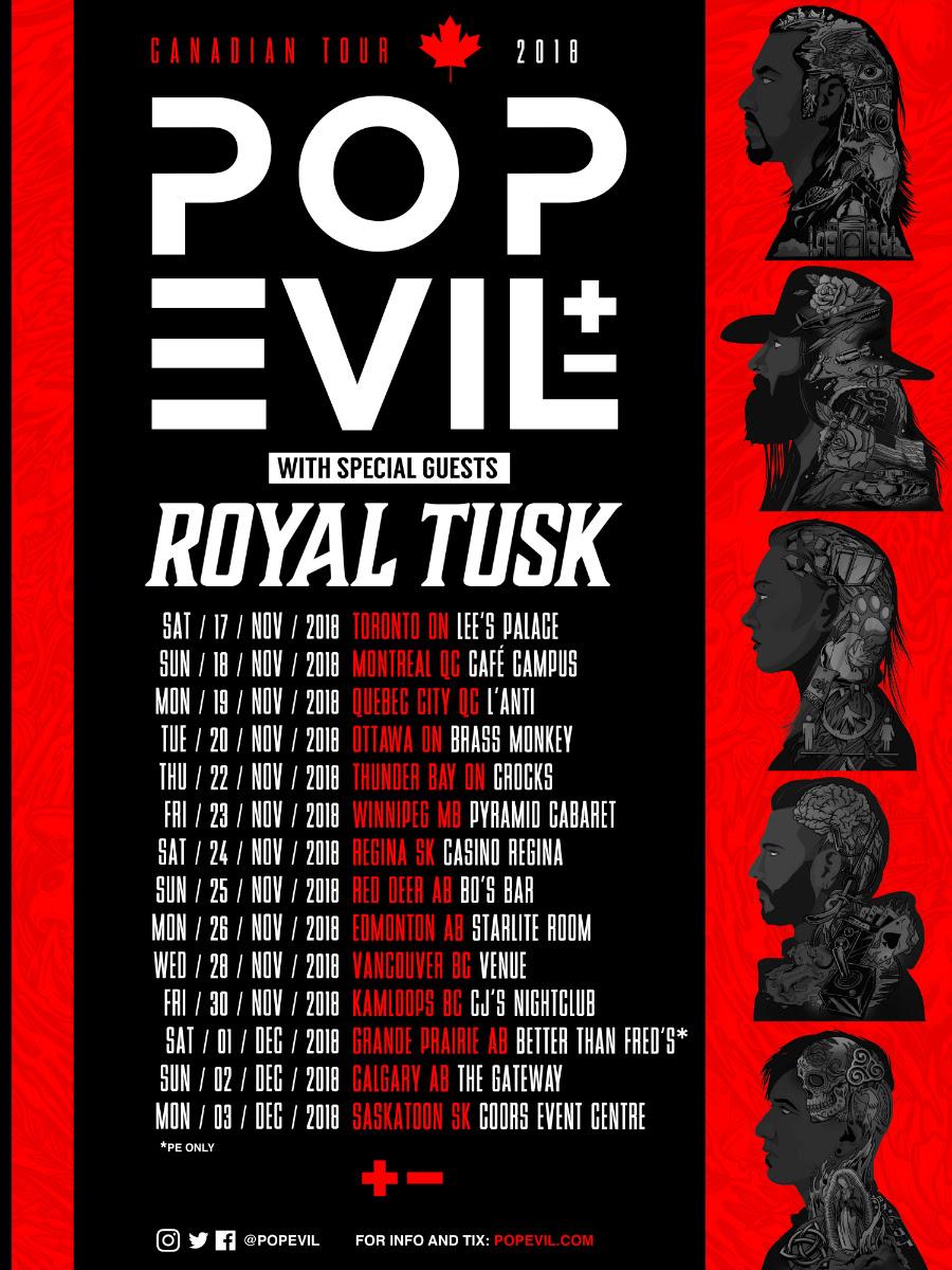 POP EVIL C TOUR